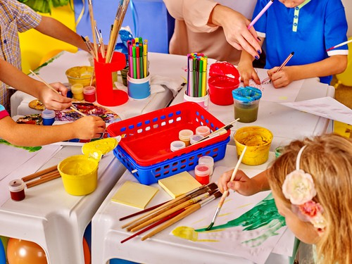 March weekday events kids painting DP