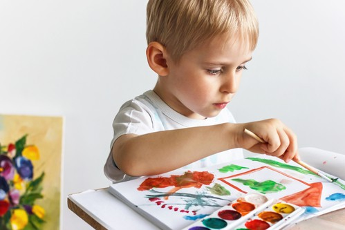 April weekday events boy painting DP