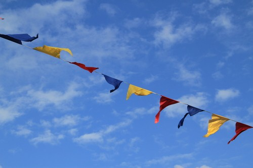September weekend events carnival flags DP